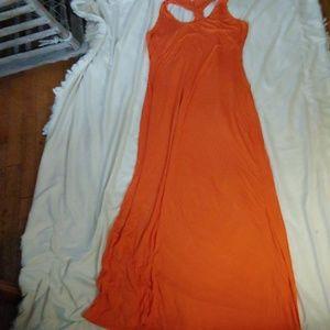 Calvin Klein orange maxi dress